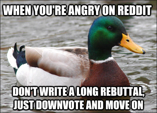 downvote and move on