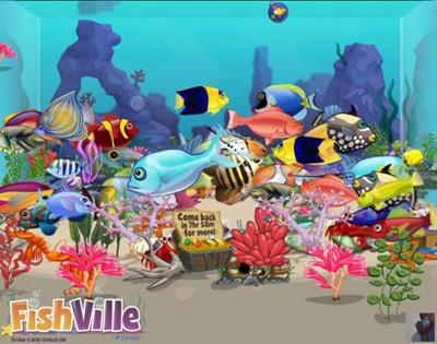 Facebook Фейсбук игра - Fish Ville