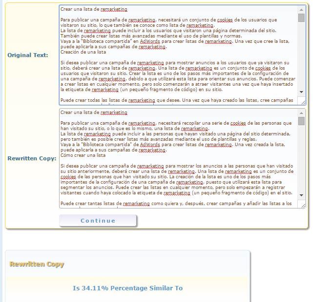 Encontrar contenido duplicado con el Site Checker