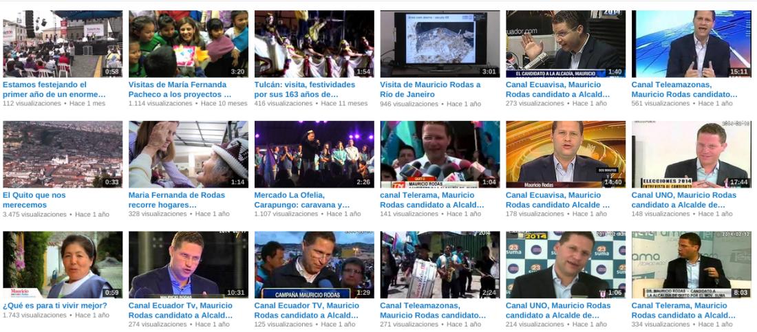 Canal de Mauricio Rodas en Youtube