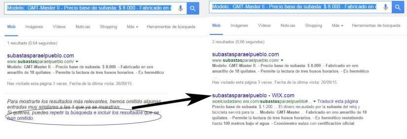 Resultados de búsqueda Google