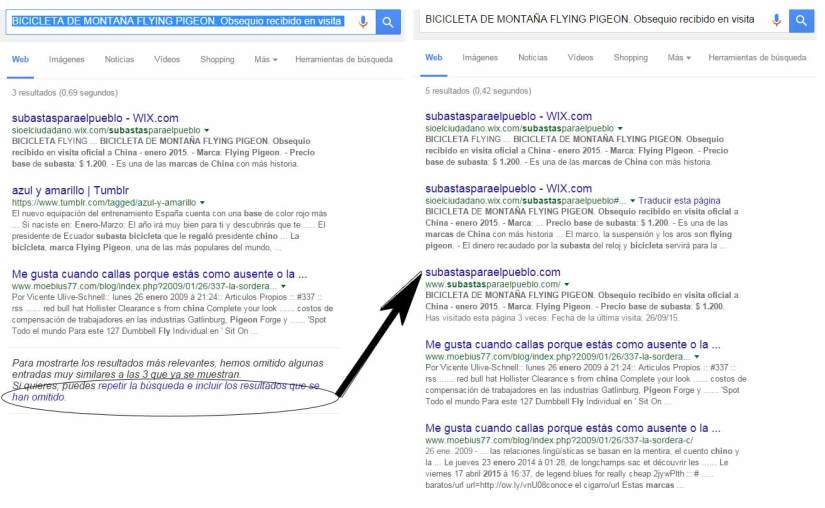 Búsqueda por la descripción que Google muestra en los resultados de búsqueda.