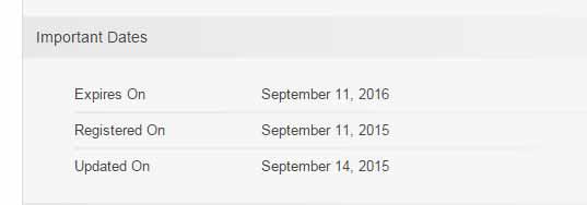 Información de who is sobre el sitio oficial de las subastas.