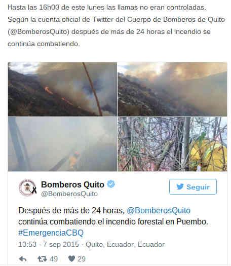 Tuit en un artículo de El Diario (Manabí)