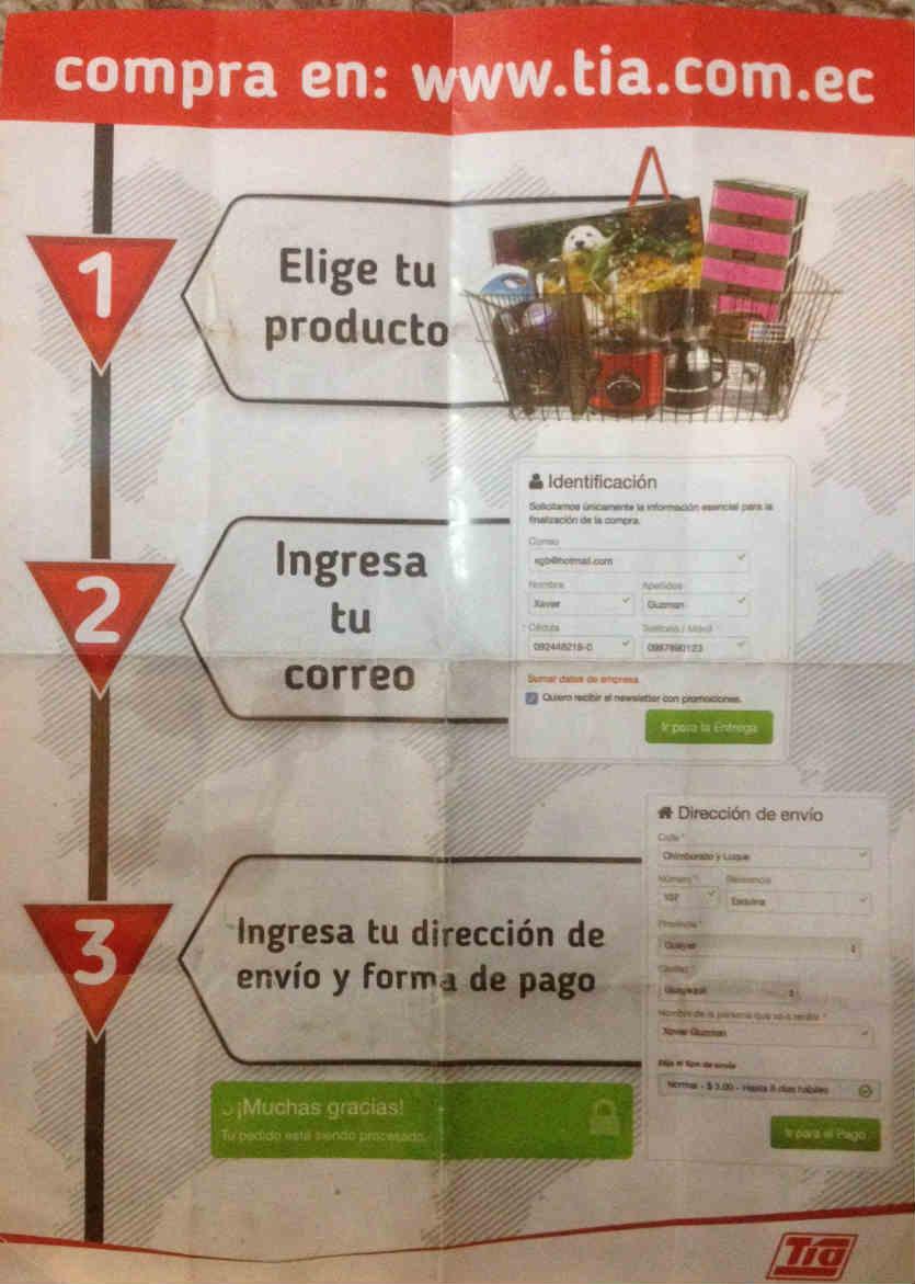Cómo funcionan las compras online en Tía.