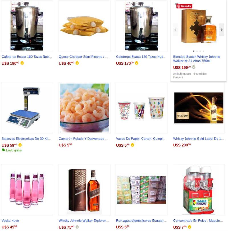 Venta de Alimentos en Mercadolibre.