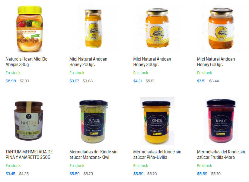 Yaesta vende alimentos online: Mieles y Mermeladas