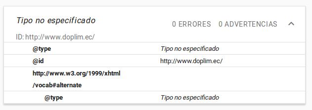 Google no entiende los datos estructurados de Doplim.