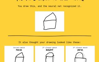 Google entiende que dibujé una casa.