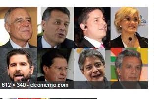 Candidatos presidencia Ecuador 2017.