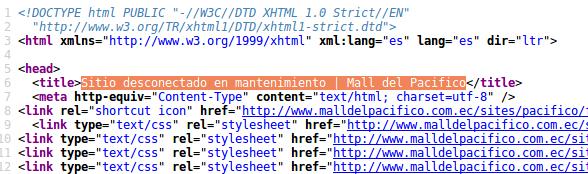Código fuente sitio web Mall del Pacífico.