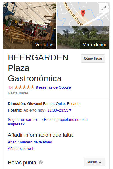 Plaza de Food Trucks Berrgarden en el Valle de los Chillos.