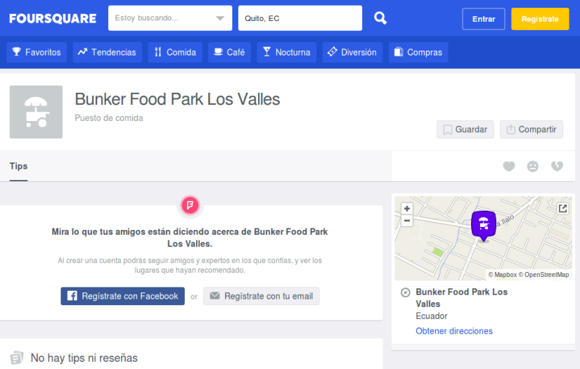 Bunker Food en Foursquare.