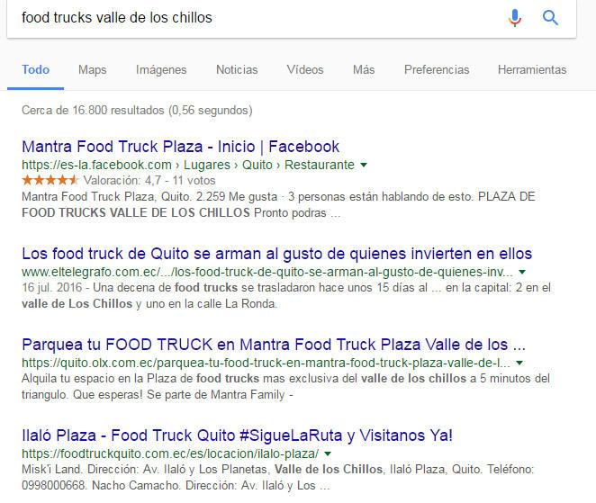 Resultados de búsqueda Food Trucks Quito.