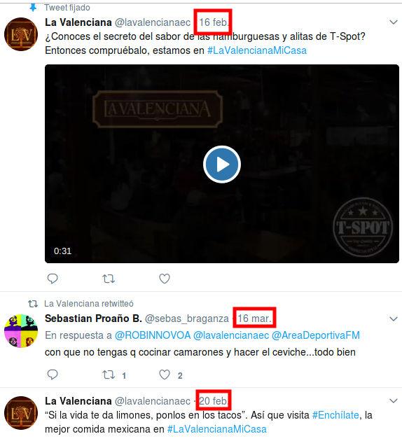 La Valenciana en Twitter.