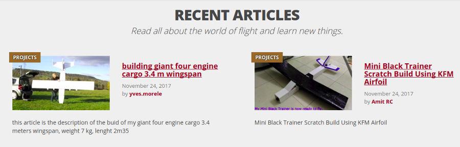 Artículos en el sitio web Flight Test.