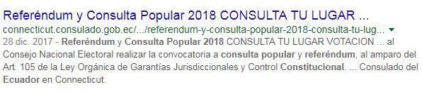 Resultado de búsqueda: Consulado Connecticut.