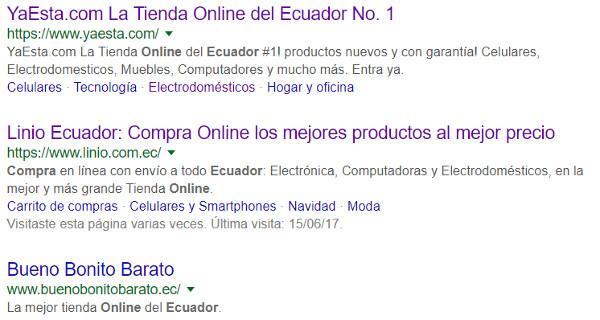 Resultados de búsqueda para compras online Ecuador.