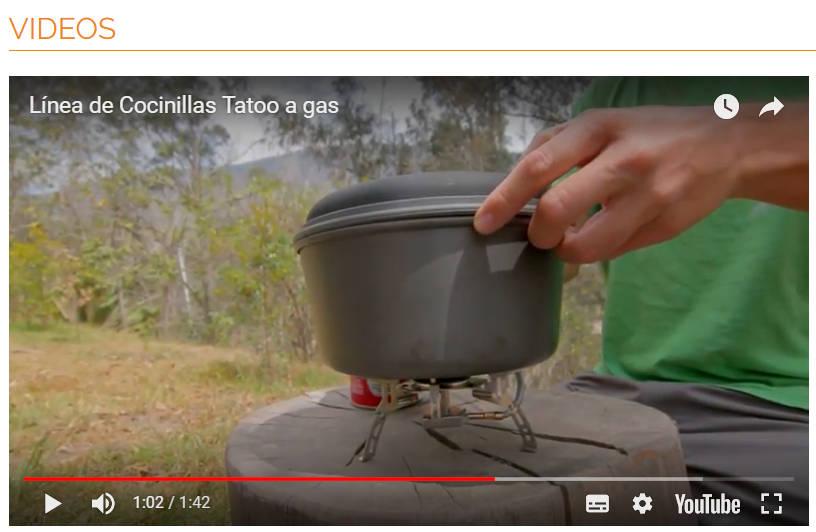 Video sobre un producto.
