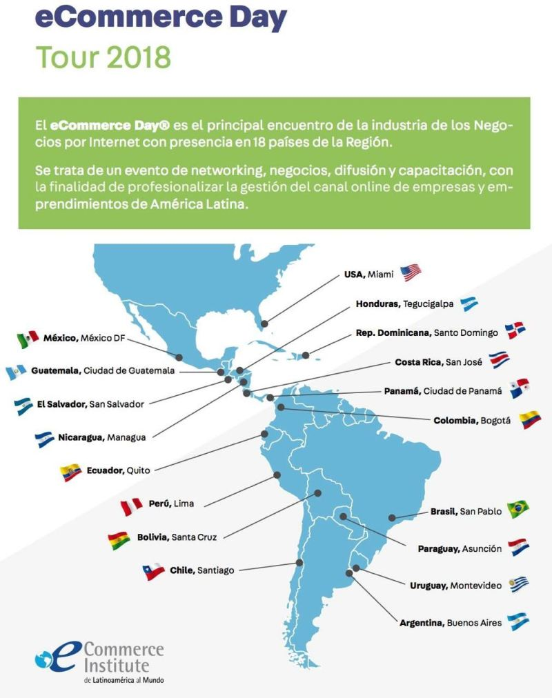 eCommerce Day Tour in 18 países.
