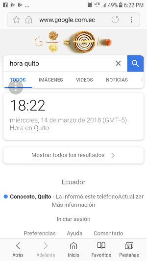 Google solo muestra una respuesta como resultado de búsqueda.