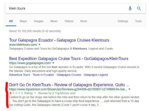 Resultados de búsqueda Kleintours.
