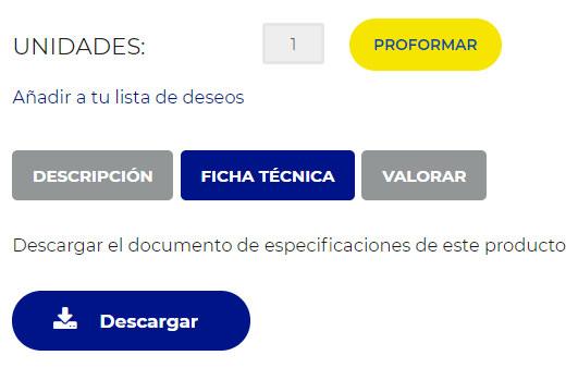 Descargar información sobre un producto en formato pdf.