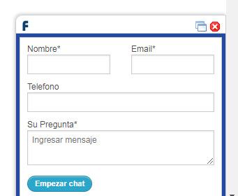 La tienda online de Fybeca utiliza un chat.