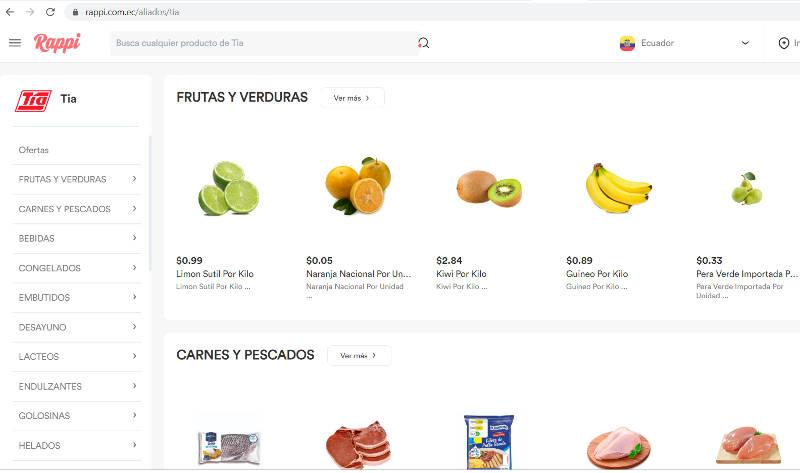 Con Rappi puedes pedir productos de Tía vía aplicación y computadora..