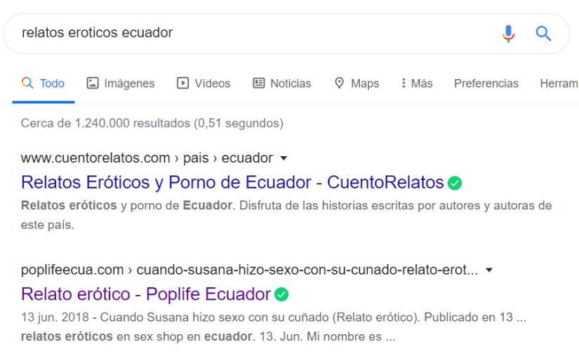 Resultado de relatos eróticos Ecuador.