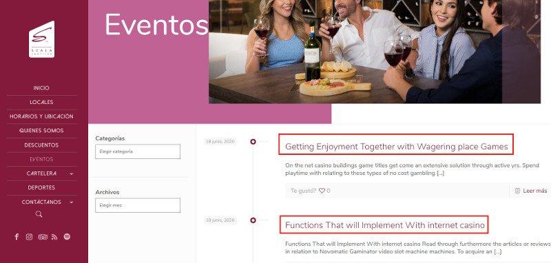 Eventos en el sitio web de Scala.