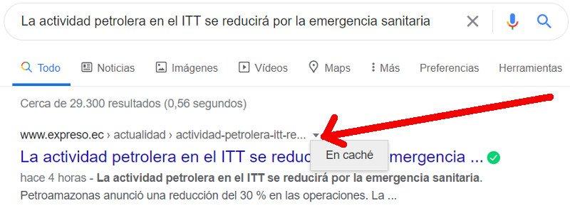 Cache de Google.