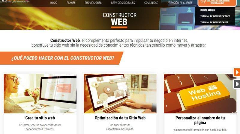 Constructor web de Netlife.