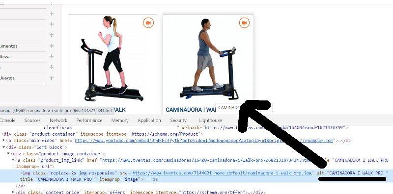 Texto de anclaje de una imagen, ejemplo TVentas.