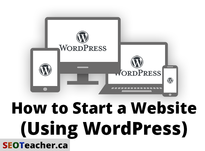 Showing WordPress logo on multiple devices: tablet, monitor, laptop, phone