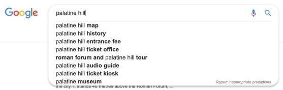 google autosuggest