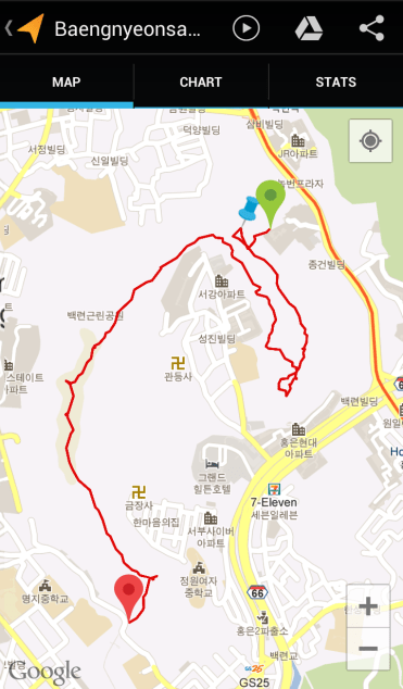 Baengnyeongsan (1:41:35, 4.13 km)