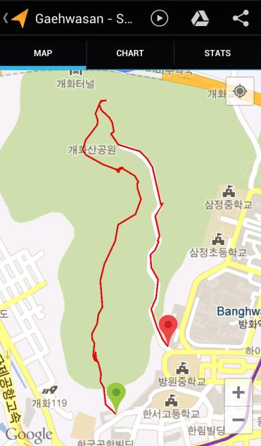 Gaehwasan (55:30, 2:86 km)