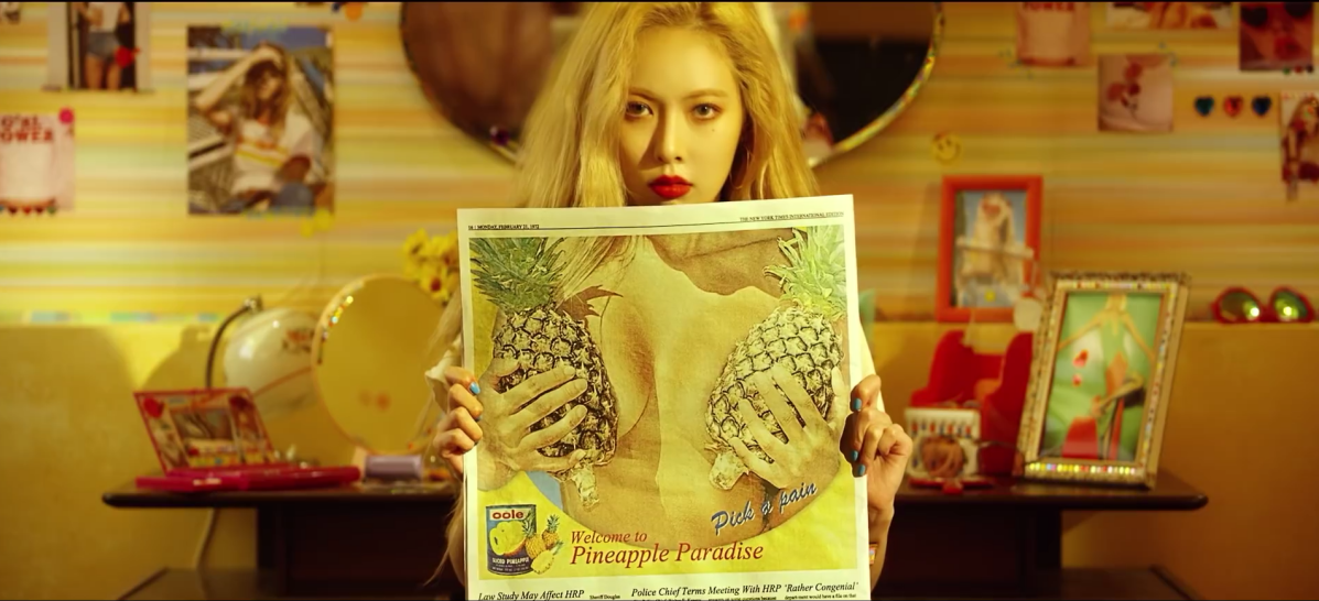 "Hyuna Is Bold with ""Lip and Hip"""