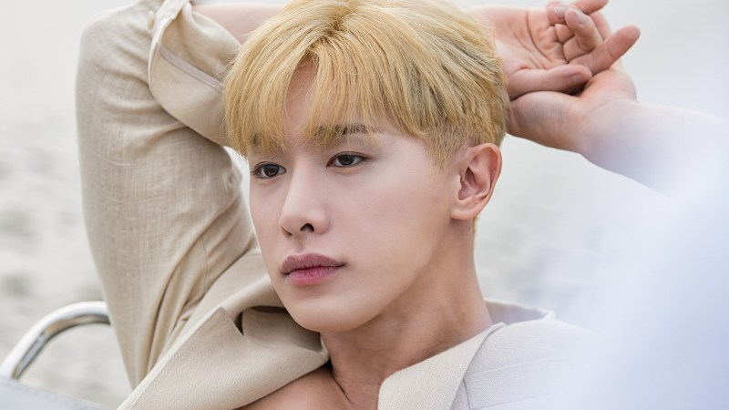 """Wonho Showcases His Fatal Charms In The Jacket Shoot For """"Love Synonym"""""""