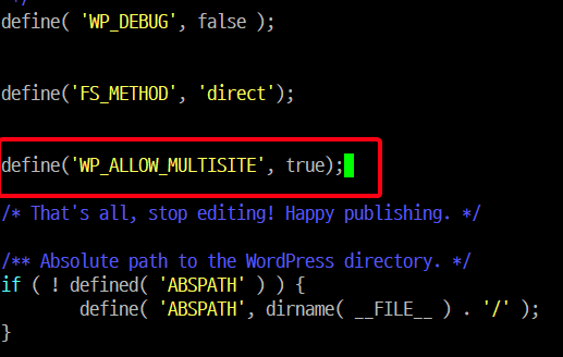 WP_ALLOW_MULTISITE