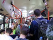 On a bus with our entire zone on the way to zone conference in the mountains. It was so crowded, I can't even tell you. Ha ha.