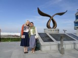 Sister T and I at the Peace observatory on the island in our area