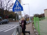 Korean crosswalk sign! Wooh!