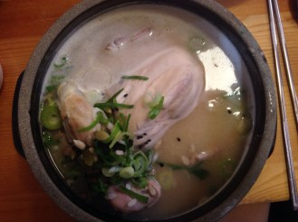 When you ask for chicken soup....you get the whole chicken which is also stuff with rice, figs, and other munchies