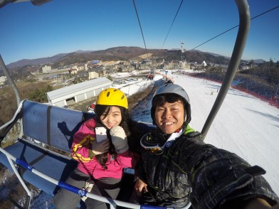 Up on the lift!