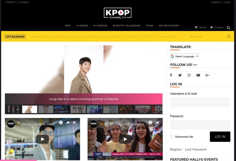 Kpopchannel.tv Korean K-Pop news Sites