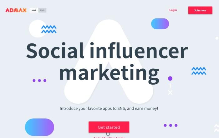Korean Influencer marketing platform