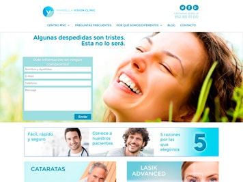 WordPress Marbella Vision Clinic