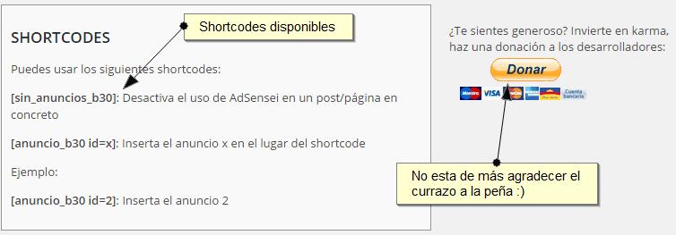 Shortcodes AdSensei